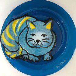 Cool Cat on Dark Turquoise