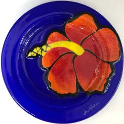 Hibiscus on Cobalt