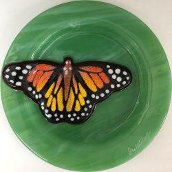 Monarch on Green Streaky